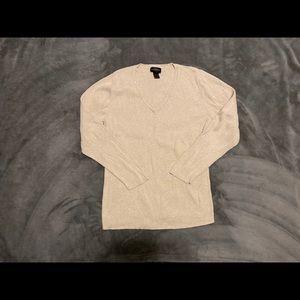 Cream v neck Lane Bryant sweater
